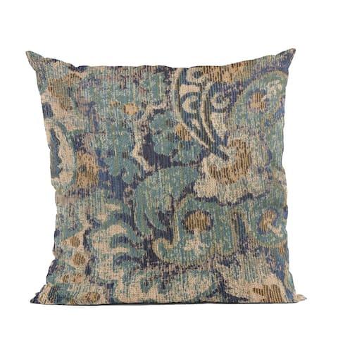 Plutus Blue Amazonian Damask Luxury Throw Pillow