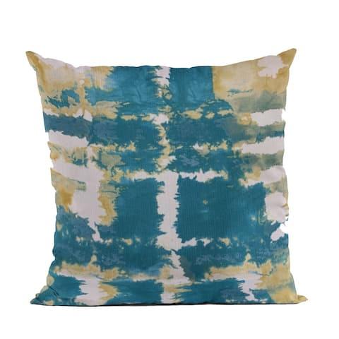 Plutus Blue Contemporary Art Graphic Print Luxury Throw Pillow