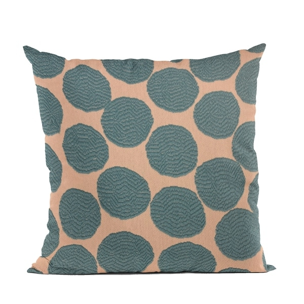 Plutus Blue Dots Luxury Throw Pillow. Opens flyout.