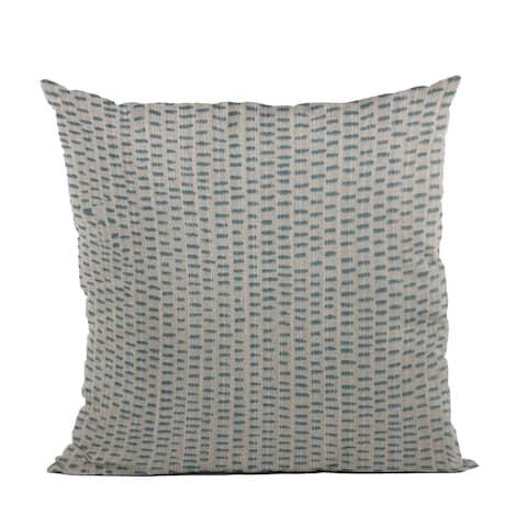 Plutus Blue Punctuation Dot Luxury Throw Pillow