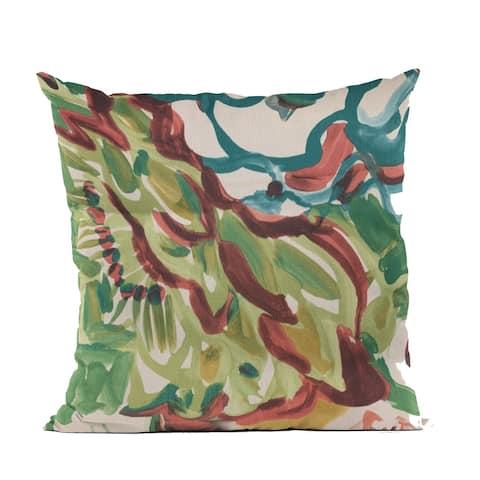 Plutus Blue Garden Graphic Print Luxury Throw Pillow