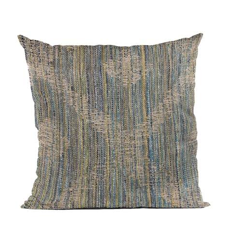 Plutus Blue Diamond Jacquard Luxury Throw Pillow