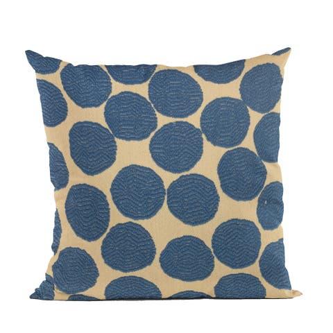 Plutus Blue Spotty Dot Luxury Throw Pillow