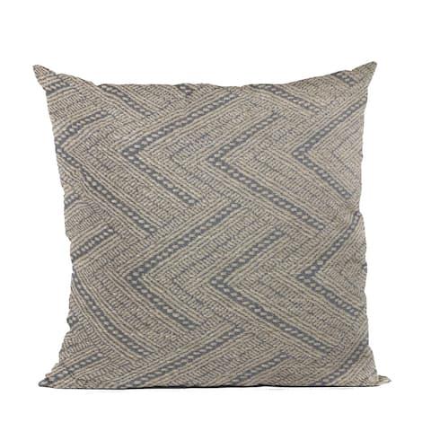 Plutus Blue Triangle Chevron Luxury Throw Pillow