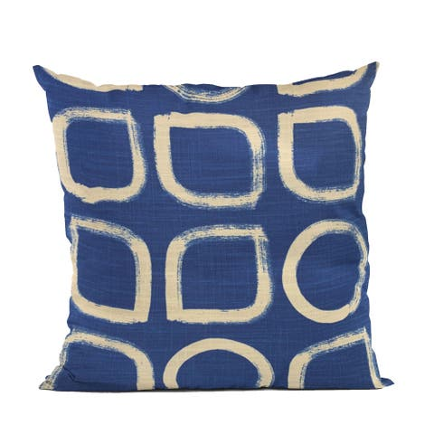 Plutus Blue Block Dot Luxury Throw Pillow