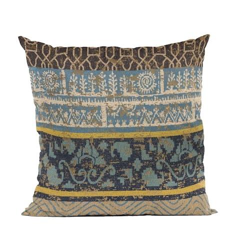Plutus Blue Ancient Border Luxury Throw Pillow