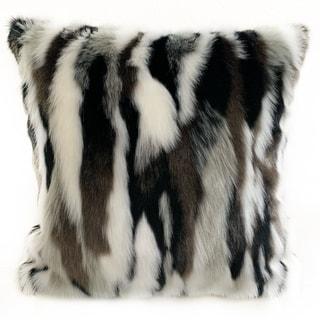 Link to Plutus Black, White Zebra Animal Faux Fur Luxury Throw Pillow Similar Items in Decorative Accessories