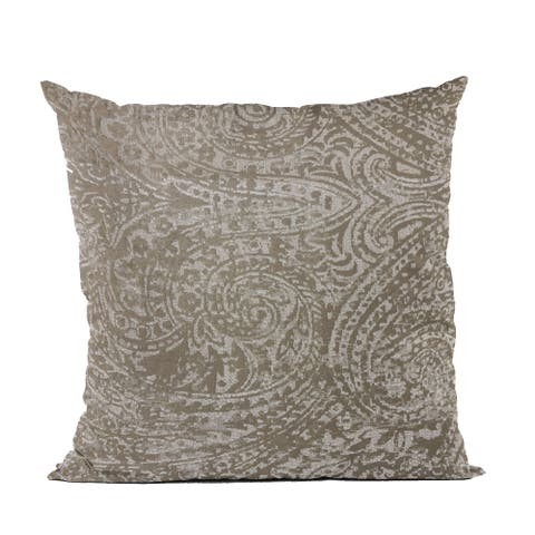 Plutus Brown Natural Leaf Jacquard Luxury Throw Pillow