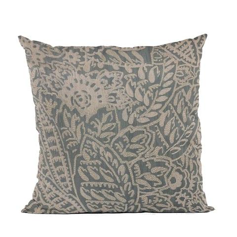 Plutus Gray Festive Jacquard Luxury Throw Pillow