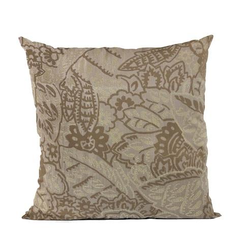 Plutus Brown Mustard Jacquard Luxury Throw Pillow