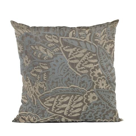 Plutus Blue Festive Jacquard Luxury Throw Pillow