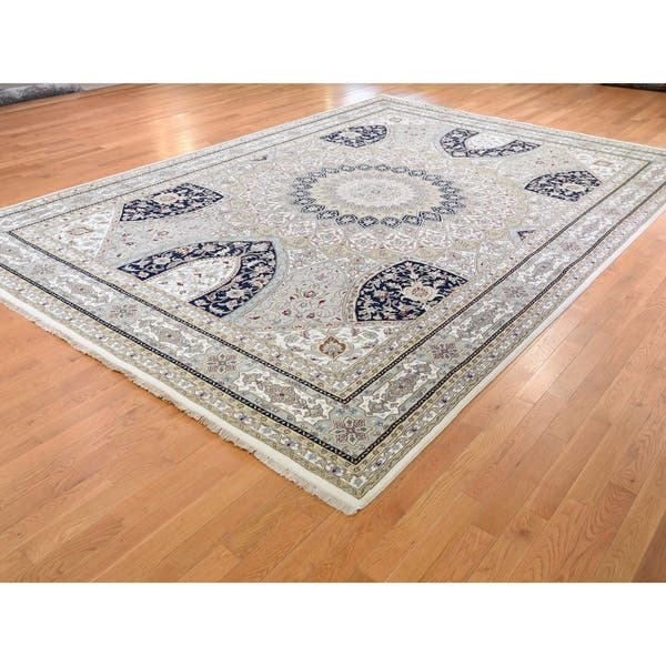 Shahbanu Rugs Gray Nain With