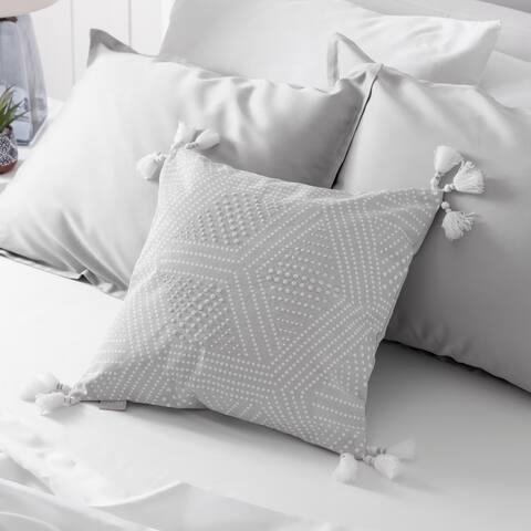 Martha Stewart Piper Beaded Dec Pillow Cover (Quiet Grey)