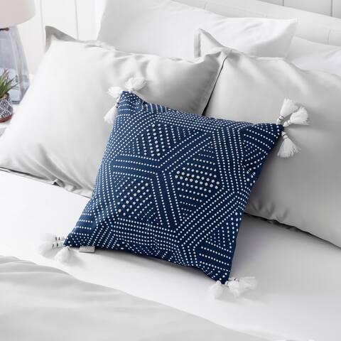 Martha Stewart Piper Beaded Dec Pillow Cover (Navy) - Navy
