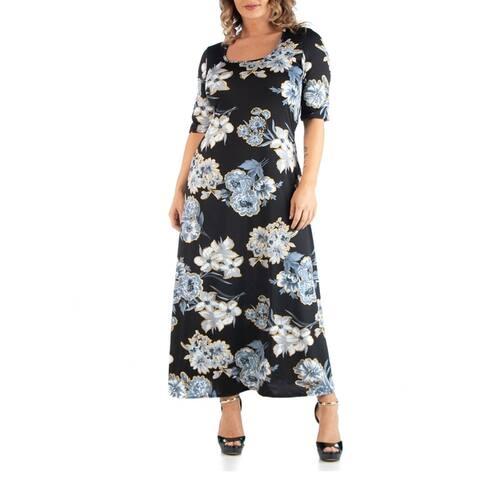 Floral Maxi Plus Size Dress