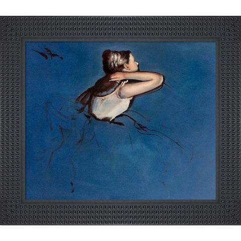 "La Pastiche Seated Dancer in Profile with Java Bean Frame, 26.5"" x 30.5"""
