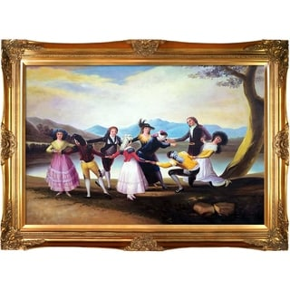 "Link to La Pastiche Blind Man's Bluff with Victorian Gold Frame, 32"" x 44"" Similar Items in Canvas Art"