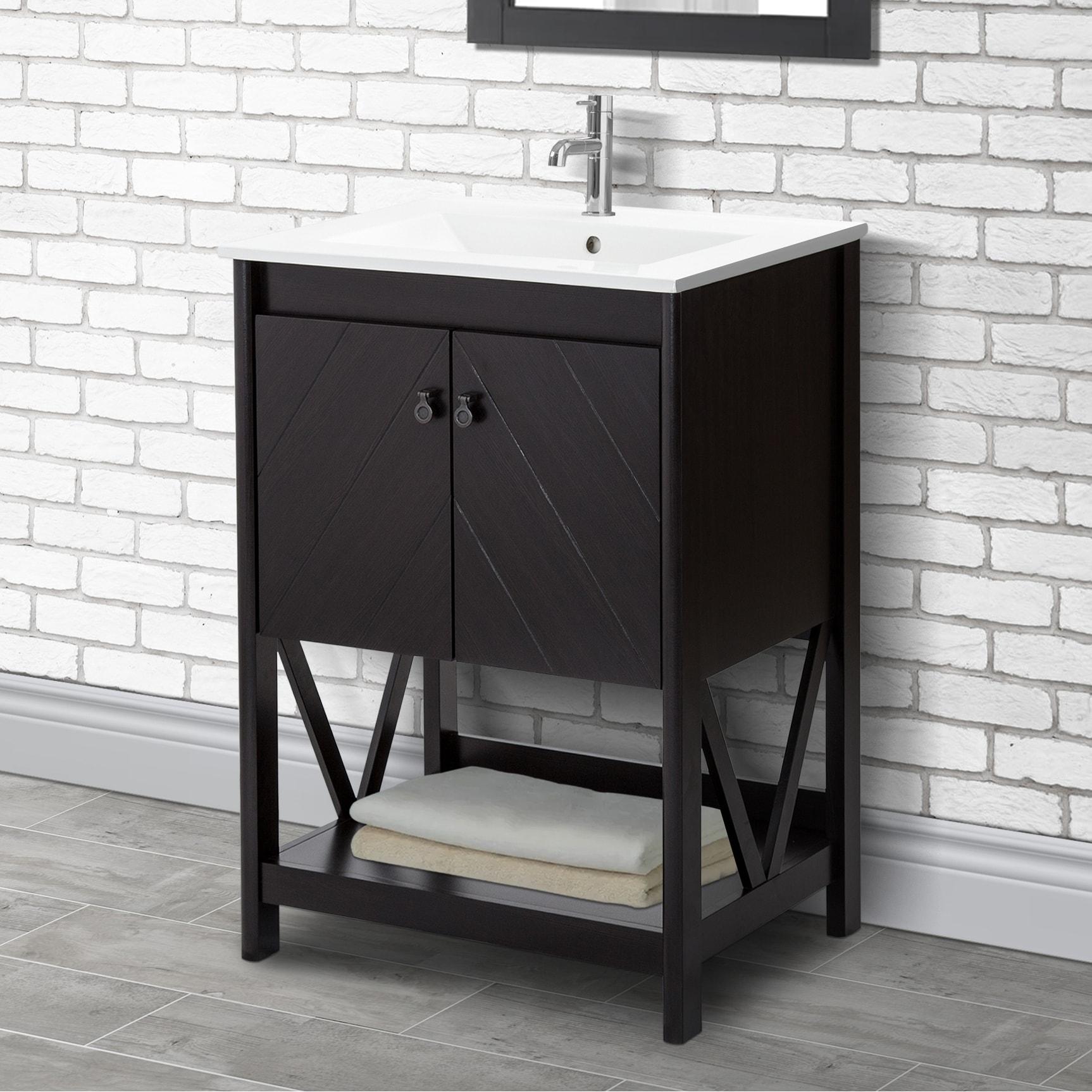 24 Inch Farmhouse Bathroom Vanity Set