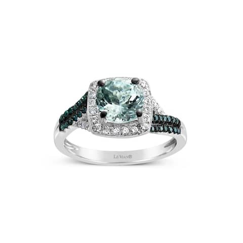Encore by Le Vian Aquamarine, Blue & White Diamond 14K White Gold Ring