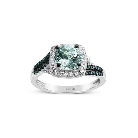Encore by Le Vian Aquamarine, Blue & White Diamond 14K White Gold Ring