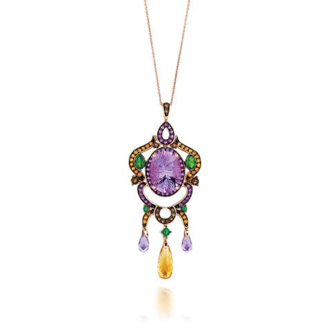 Encore by Le Vian Amethyst & Mutli Gemstone 14K Rose Gold Pendant