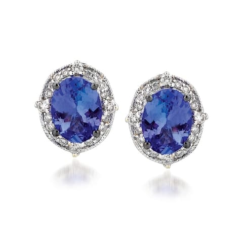 Encore by Le Vian Tanzanite & Diamond Earrins 14K White Gold Earrings