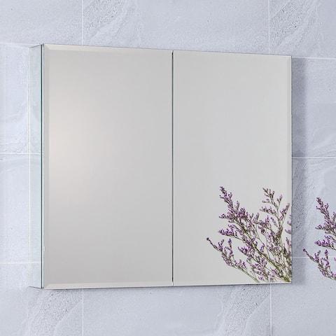 30-inch Aluminum Bathroom Mirrored Wall Medicine Cabinet