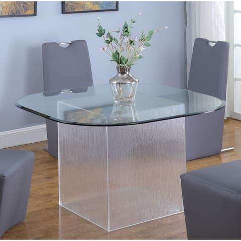 Somette Valor Surfboard Clear Glass Top Dining Table