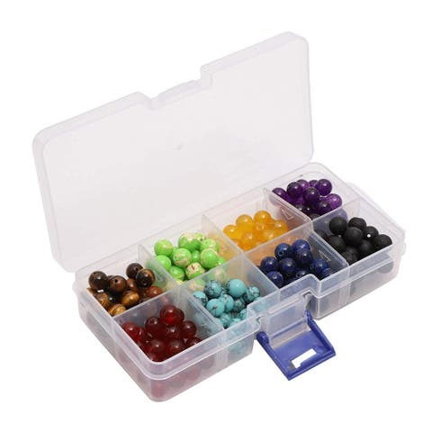 224x Chakra Bead Kit for Jewelry Making Necklaces Bracelets and DIY Crafts 8mm - Red - 224 pcs