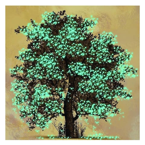 "DIY 5D Diamond Painting Kit for Adults with 1 Full Drill Canvases Tools Tree - Green - 16""x16"""