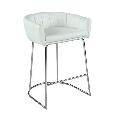 Somette Denzell Contemporary Channel Back Counter Stool - Counter Stool - Counter Stool