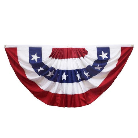 """Patriotic America Bunting Flag Banner for Décor National Holiday 71.5 x 34"""""""