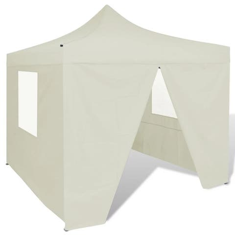 Cream Foldable Tent 10' x 10' with 4 Walls