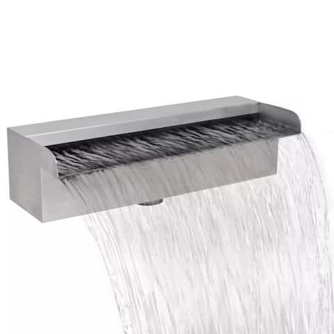 "Rectangular Waterfall Pool Fountain Stainless Steel 11.8"" - 7'6"" x 9'6"""