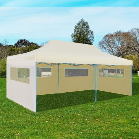 """Cream Foldable Pop-up Party Tent 9'10""""x19'8"""""""