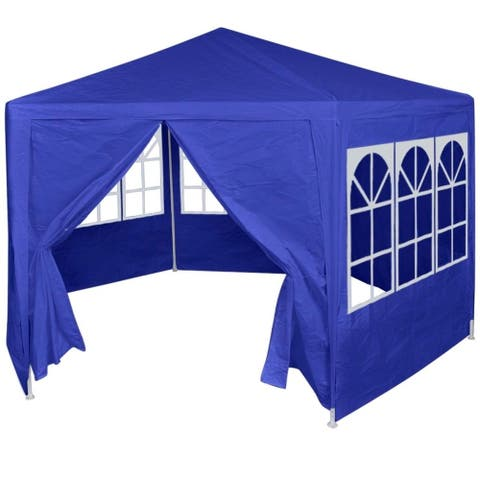 Marquee with 6 Side Walls Blue 6.6'x6.6'