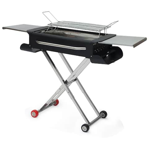 "Lordear 44"" portable charcoal grill for outdoor barbecue"