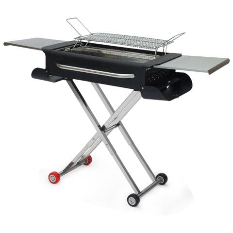 Portable Charcoal Grill Outdoor BBQ Grill Smoker Stainless