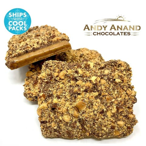 Andy Anand Old Fashioned Milk Chocolate English Toffee with Almonds & Honey
