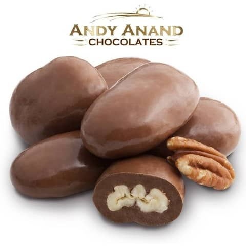 Andy Anand Belgian Milk Chocolate Pecans Delicious Gift Box & Greeting Card