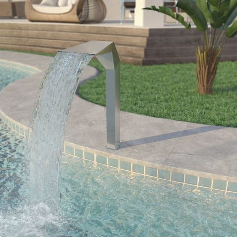 """Pool Fountain Stainless Steel 19.7""""x11.8""""x35.4"""" Silver - 7'10"""" x 10'10"""""""