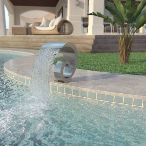 """Pool Fountain Stainless Steel 19.7""""x11.8""""x20.9"""" Silver - 7'10"""" x 10'10"""""""