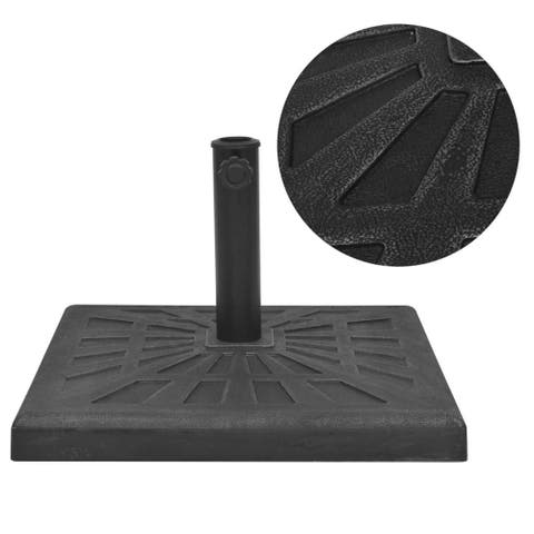Parasol Base Resin Square Black 41.9 lb