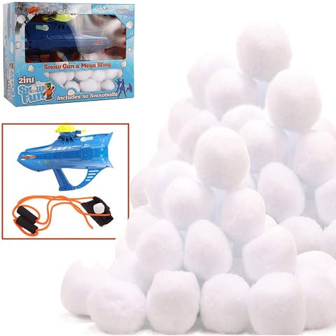 High Bounce 50 Snowballs and Accessories Including Gun and Slingshot