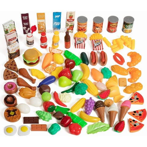 IQ Toy 120 Deluxe Food Pretend Playset Grocery Kitchen Food Assortment