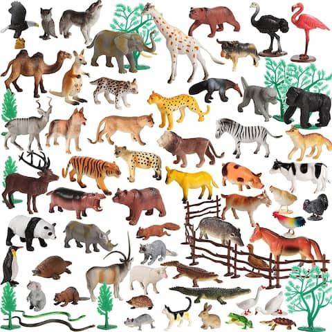 Migration 100 Piece Set of Animal Plastic Figures Playset