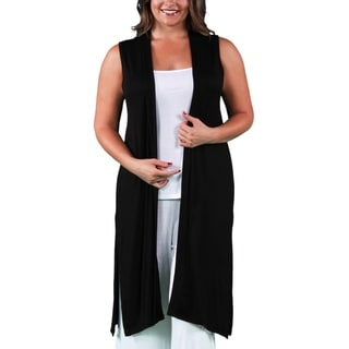 Link to Long Sleeveless Plus Size Cardigan Vest Similar Items in Women's Plus-Size Clothing
