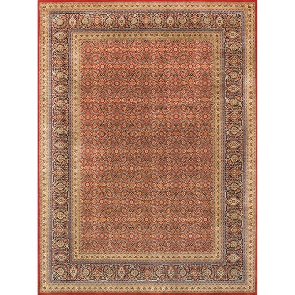 Pasargad Home Tabriz Collection Hand-Knotted Lambs Wool Rug. Opens flyout.