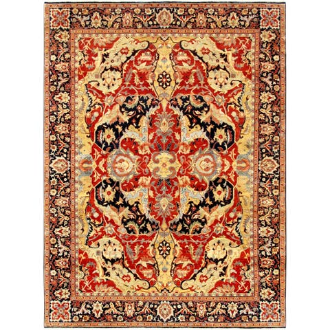"""Pasargad Home Bidjar Collection Hand-Knotted Lambs Wool Area Rug - 9' 0"""" X 12' 0"""""""