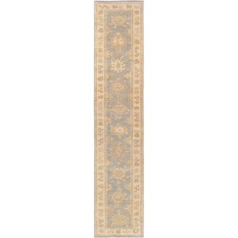 "Pasargad Home Turkish Oushak Collection Hand-Knotted Lambs Wool Runner - 2'10"" X 14' 3"""